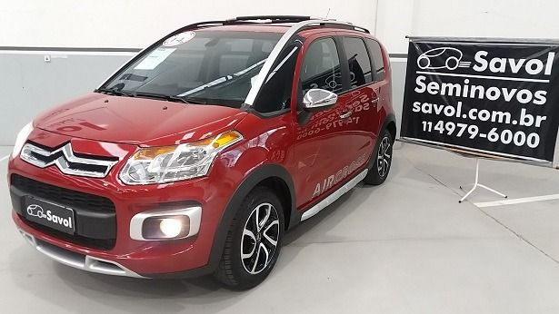 Citroën Aircross Exclusive 1.6 16V Flex Vermelho 2014}