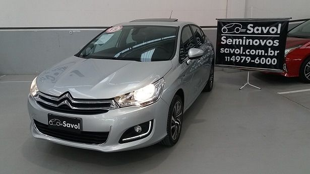 Citroën C4 Lounge Exclusive 1.6i THP 16V 165cv Prata 2017}