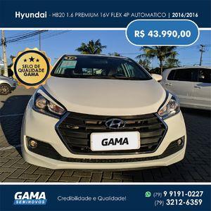 Hyundai HB20 Premium 1.6 AT  2016}